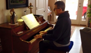 DS in sweats at piano cropped
