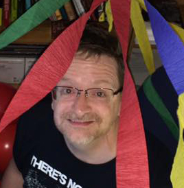 Mike Meadows' cubicle on his 50th birthday cropped