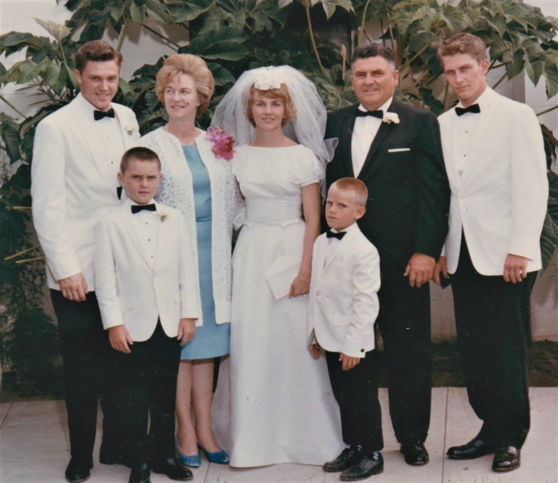 John, Mom, Karon, Dad, Karl, Pete, and Rod August 1965